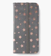 rose gold Christmas stars geometric pattern cement iPhone Wallet/Case/Skin