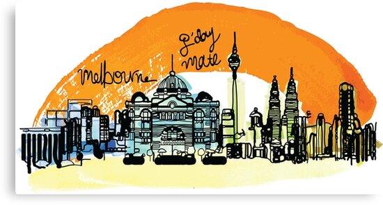 Melbourne by cheeckymonkey