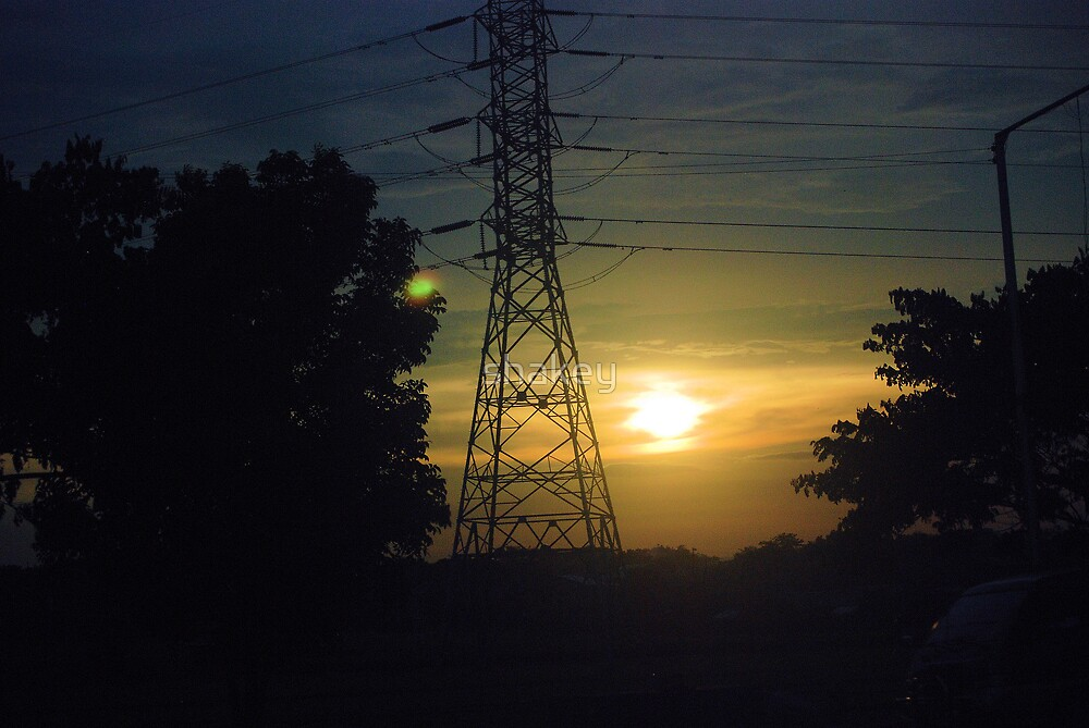 Pylon sunset by shakey