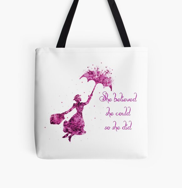 She believed she could so she did All Over Print Tote Bag