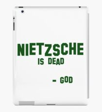 Nietzsche quote iPad Case/Skin