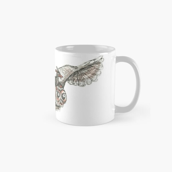 Mother of Owls. Dachshund riding an owl, illustration. Classic Mug