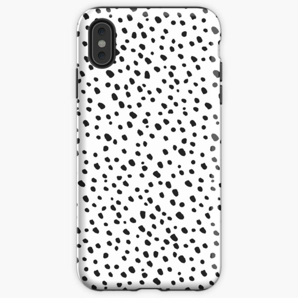 Black Dots by Minikuosi iPhone Tough Case