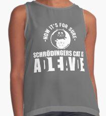 Schrodingers Cat Dead Alive Nerd Gift Contrast Tank