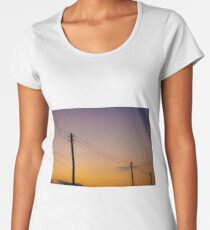 Telephone Wires Women's Premium T-Shirt
