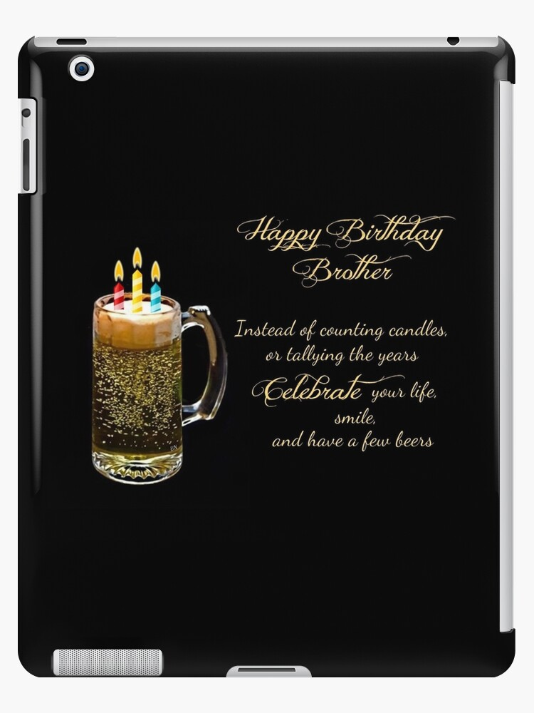 Happy Birthday Brother Ipad Caseskin By Barbny