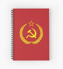 Soviet Union Cold War Flag Spiral Notebook