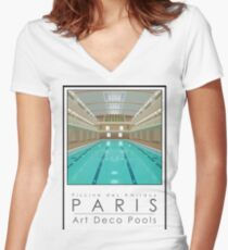 Lido Poster Amiraux Women's Fitted V-Neck T-Shirt