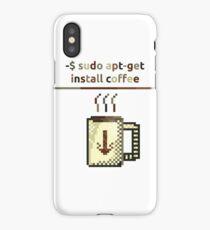 Apt get coffee iPhone Case/Skin