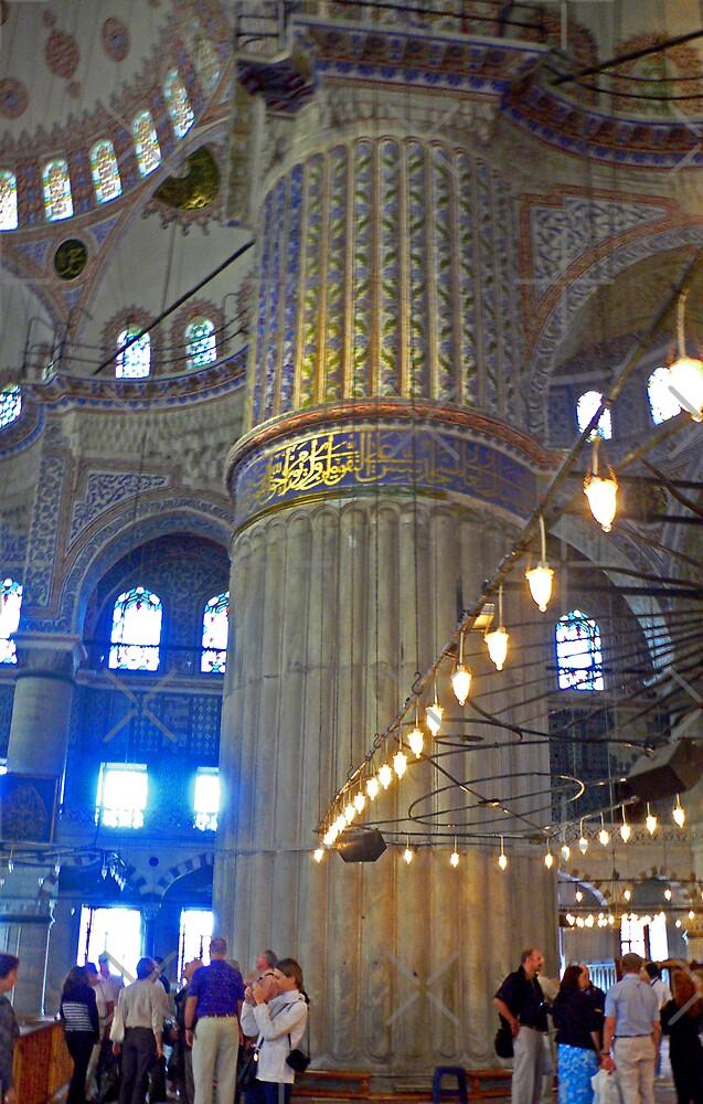 Blue Mosque Pillar by Tom Gomez
