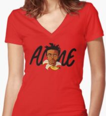 AMINE Women's Fitted V-Neck T-Shirt