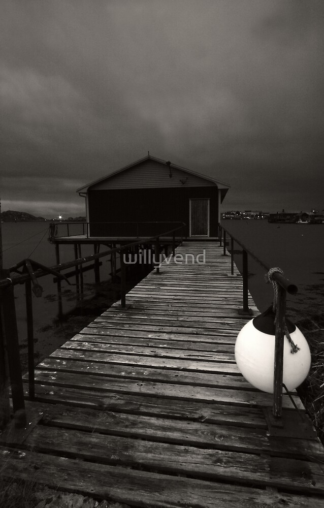 Wooden pontoon by Willy Vendeville