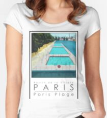 Lido Poster Paris Plage Women's Fitted Scoop T-Shirt