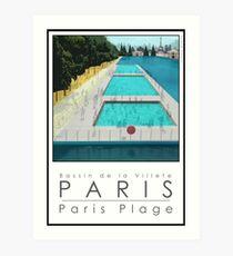 Lido Poster Paris Plage Art Print