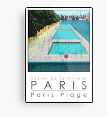 Lido Poster Paris Plage Metal Print