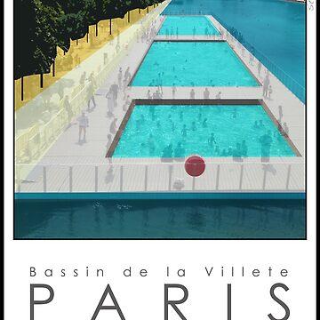 Lido Poster Paris Plage by stevenhouse