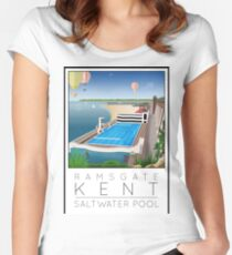 Lido Poster Ramsgate Women's Fitted Scoop T-Shirt