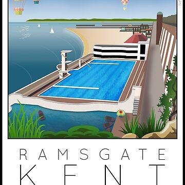 Lido Poster Ramsgate by stevenhouse