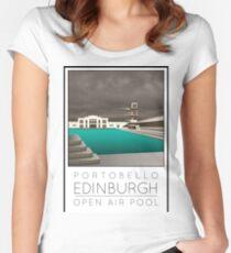 Lido Poster Edinburgh Portobello Women's Fitted Scoop T-Shirt