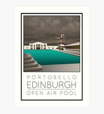Lido Poster Edinburgh Portobello Art Print