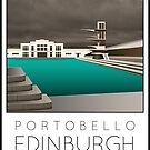 Lido Poster Edinburgh Portobello by Steven House