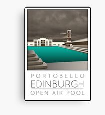 Lido Poster Edinburgh Portobello Canvas Print