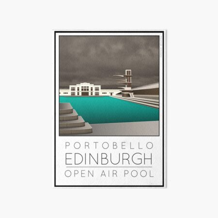 Lido Poster Edinburgh Portobello Art Board Print