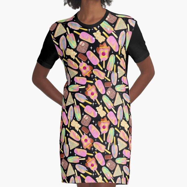 Aussie Treats - Cosmic Graphic T-Shirt Dress