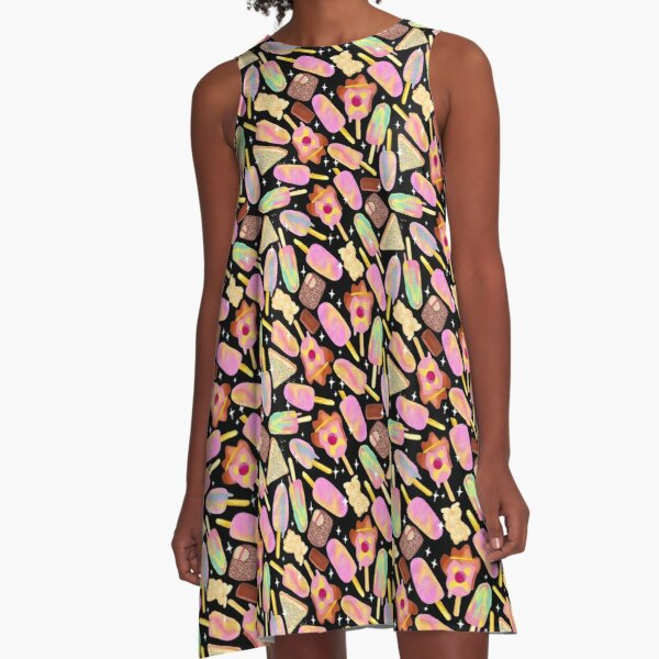 Aussie Treats - Cosmic A-Line Dress