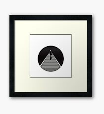 Mysterious Man on a Walkway Framed Print