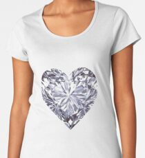 Diamond Heart Women's Premium T-Shirt