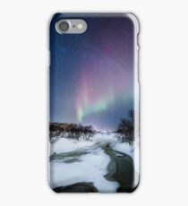 Aurora by the creek iPhone Case/Skin