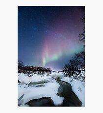 Aurora by the creek Photographic Print