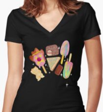 Aussie Treats - Cosmic Women's Fitted V-Neck T-Shirt