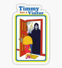 Timmy Has a Visitor T-shirt Sticker