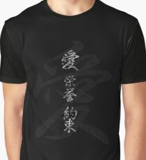 Japanese Symbols: Love Honor Promise Graphic T-Shirt