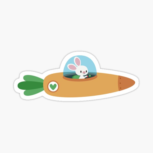 An army of space bunnies Sticker