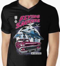 Flying Saucers  Men's V-Neck T-Shirt
