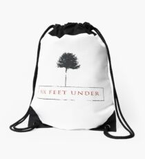 Six feet under Drawstring Bag