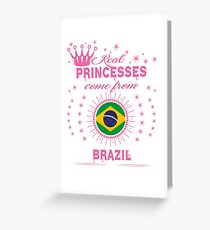 queen real princesses princess from BRAZIL gift christmas Greeting Card