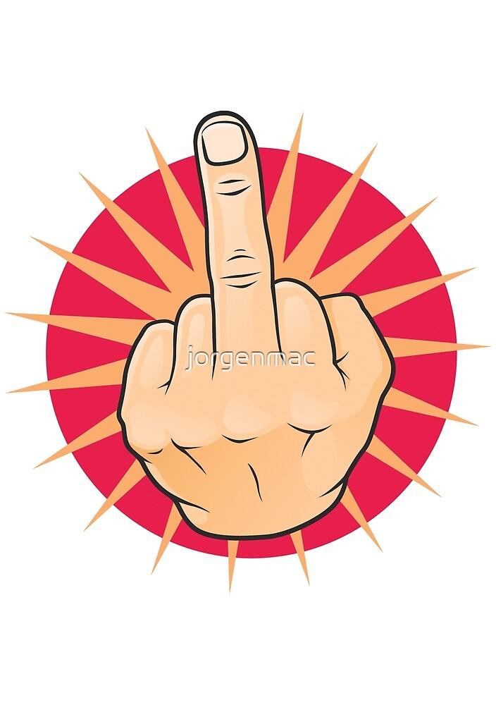 Vintage Pop Art Middle Finger Up Gesture. by jorgenmac
