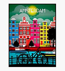 BICYCLE RIDING; In Amsterdam Holland Print Photographic Print