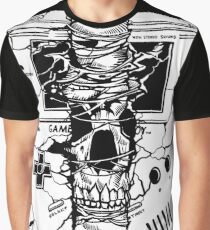Gameboy Skull  Graphic T-Shirt
