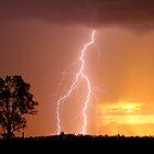 Sunset Lightning by Anthony Cornelius