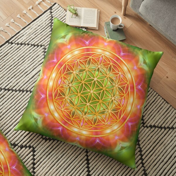 Flower of Life - Healing Heart Power Bodenkissen