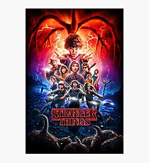 STRANGER THINGS POSTER 2 Photographic Print