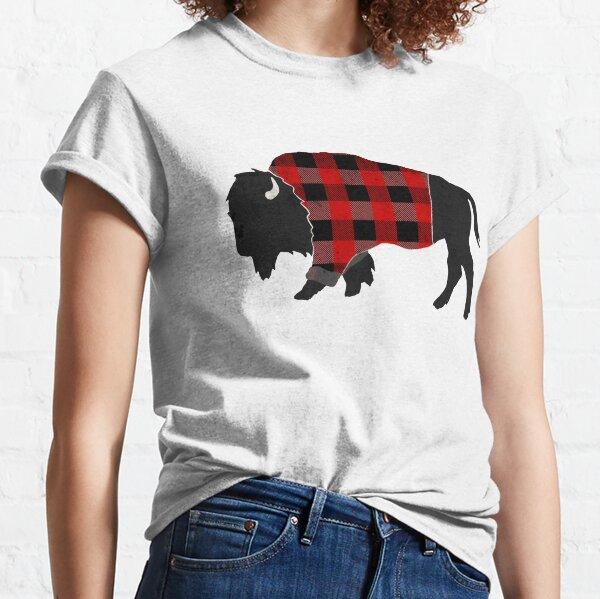 Bison Buffalo Plaid  Classic T-Shirt