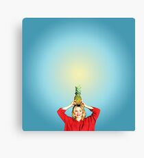 Want to Split a Pineapple?  Canvas Print