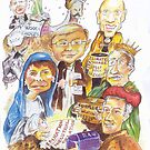Rejoice -2007 Labour Party Victory Christmas Card by Gary Shaw