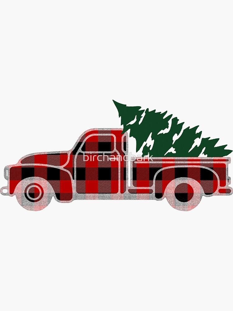 Christmas Tree Truck by birchandbark